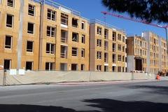 Lägenhetkonstruktionsplats Royaltyfri Fotografi