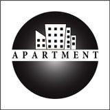 Lägenhetlogo arkivfoton
