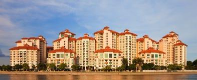 lägenhetpanorama singapore Royaltyfria Foton