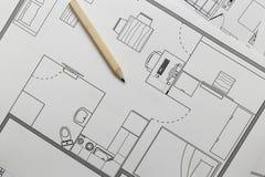 Lägenhetplan Royaltyfri Fotografi