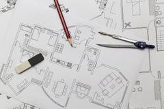 Lägenhetplan Arkivfoton
