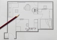 Lägenhetplan Arkivbild