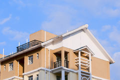 lägenhetskomplex Royaltyfri Bild