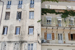lägenhetskomplex corsica france Fotografering för Bildbyråer