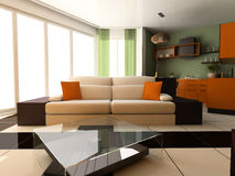 lägenhetstudio Arkivbild