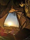 läger Arkivfoton