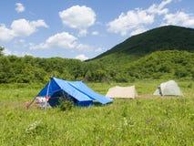 läger 2 Arkivfoto