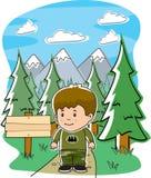 läger vektor illustrationer