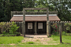 Läger för POW för lägerFord inbördeskrig. Arkivfoton