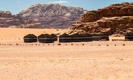 Läger i Wadi Rum Royaltyfri Fotografi