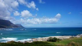 Läger skäller och backen, Cape Town, Sydafrika Royaltyfri Bild