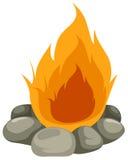 lägerbrand royaltyfri illustrationer