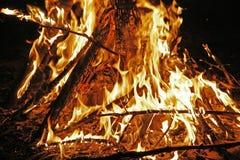 lägerbrand Royaltyfria Foton