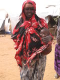 lägerhungerflykting somalia Royaltyfri Bild