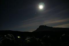 Lägerkilimanjaro Fotografering för Bildbyråer