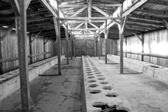 lägerkoncentration poland Arkivbild