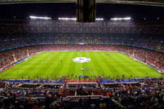 LägerNou stadion, Barcelona Royaltyfria Foton