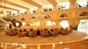 Lägesemesterort i Dubaien stock video
