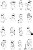 Lägessymboler 2 Arkivbild