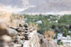 Lägga stenar med den mjuka fokusen Royaltyfri Foto