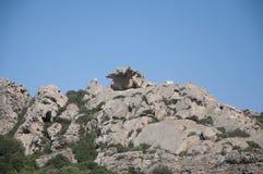 Lägre Capo Orso, Sardinia för siktsavtal Arkivbilder