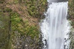 Lägre Multnomah nedgångar delar upp closeupen Arkivfoto