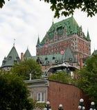 lägre sedd town för chateaufrontenac Fotografering för Bildbyråer