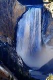 Lägre Yellowstone vattennedgångar Arkivfoton