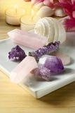 Läka kristaller Arkivbilder