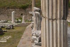 Läka mitten av Asklepion i Pergamum (Pergamon), Bergama, Turkiet Royaltyfria Bilder