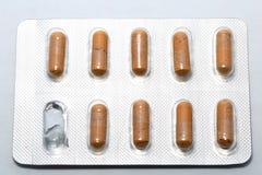 Läkarbehandlingpreventivpiller Arkivbild