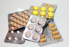 Läkarbehandlingpreventivpillerar Arkivfoton