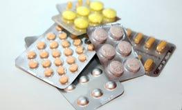 Läkarbehandlingpreventivpillerar Royaltyfri Foto