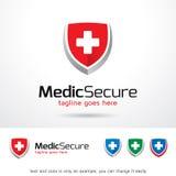 Läkare Secure Logo Template Design Vector Royaltyfri Illustrationer