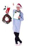 läkarundersökning för juldoktorsman Royaltyfri Foto