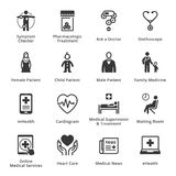 Läkarundersökning- & hälsovårdsymboler - uppsättning 2 Royaltyfri Fotografi