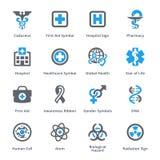Läkarundersökning- & hälsovårdsymbolsuppsättning 1 Arkivbilder