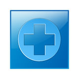 Läkarundersökning medicinskt symbol, symbol Fotografering för Bildbyråer
