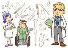 Läkarundersökning- och sjukhussamling Arkivbild