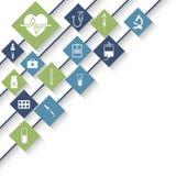 Läkarundersökning- och sjukvårdbegrepp stock illustrationer