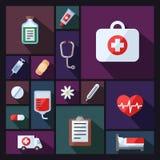 Läkarundersökning- och vetenskapsvektorbakgrund med sektorer Modern plan design royaltyfri illustrationer