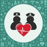 Läkarundersökninglägenhet stock illustrationer