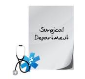 Läkarundersökningmeddelande för kirurgisk avdelning vektor illustrationer