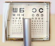 Läkarundersökningtabeller för beslutsamhet visionen Royaltyfria Bilder