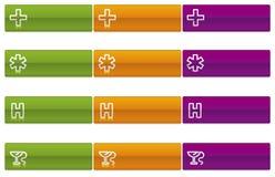 läkarundersökningvektor för 2 symboler vektor illustrationer