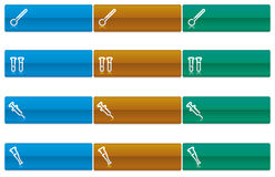 läkarundersökningvektor för 3 symboler vektor illustrationer