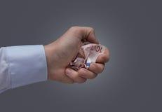 Lämna euro, dödande euro för brexit Arkivbild