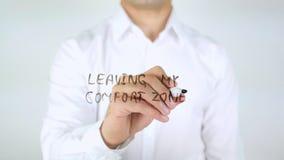 Lämna min komfortzon, manhandstil på exponeringsglas Royaltyfri Foto