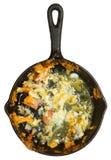 Lämnat över den låga carben Omelett för röra Royaltyfri Bild