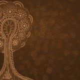 Lämnat abstrakt brunt träd Royaltyfri Fotografi